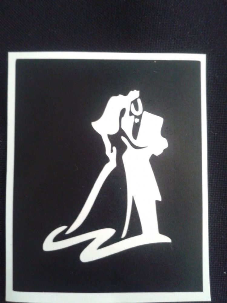 Wedding Couple Holding Hands At The Altar Stencils For